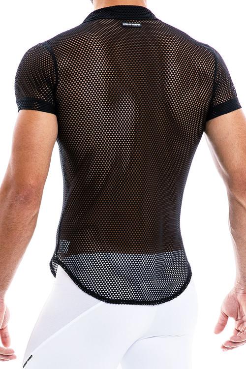 Modus Vivendi Camouflage Shirt 02042-BL Black - Mens Shirts - Rear View - Topdrawers Clothing for Men