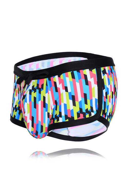 Andrew Christian Arrive Swim Trunk 7782 - Mens Swim Trunks - Garment View - Topdrawers Swimwear for Men