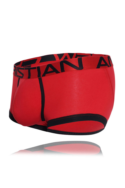 Andrew Christian FlashLift Boxer w/ Show-It 91504-RD Red - Mens Boxer Briefs - Garment View - Topdrawers Underwear for Men
