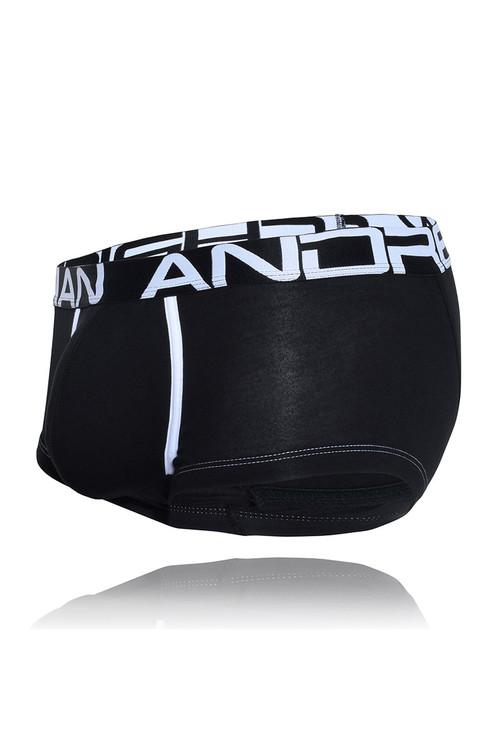 Andrew Christian FlashLift Boxer w/ Show-It 91504-BL Black - Mens Boxer Briefs - Garment View - Topdrawers Underwear for Men