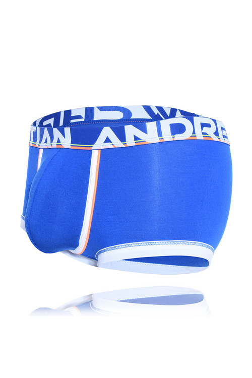 Andrew Christian CoolFlex Modal Active Boxer w/ Show-It 91500-ROY Royal Blue - Mens Boxer Briefs - Garment View - Topdrawers Underwear for Men