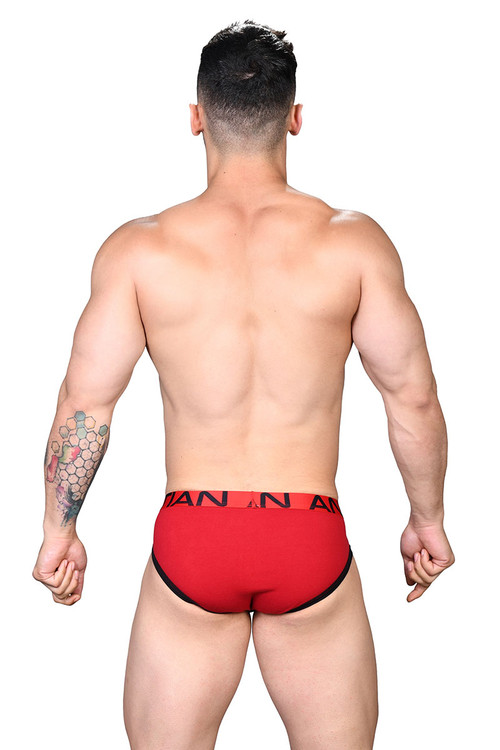 Andrew Christian Show-It Brief 91502-RD Red - Mens Briefs - Rear View - Topdrawers Underwear for Men