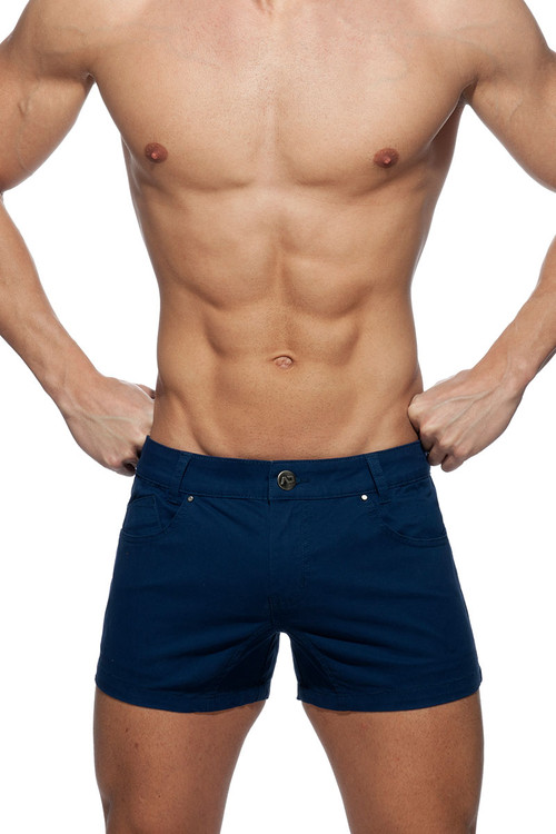 Addicted AD Bermuda Short AD818-09 Navy Blue - Mens Shorts - Front View - Topdrawers Clothing for Men