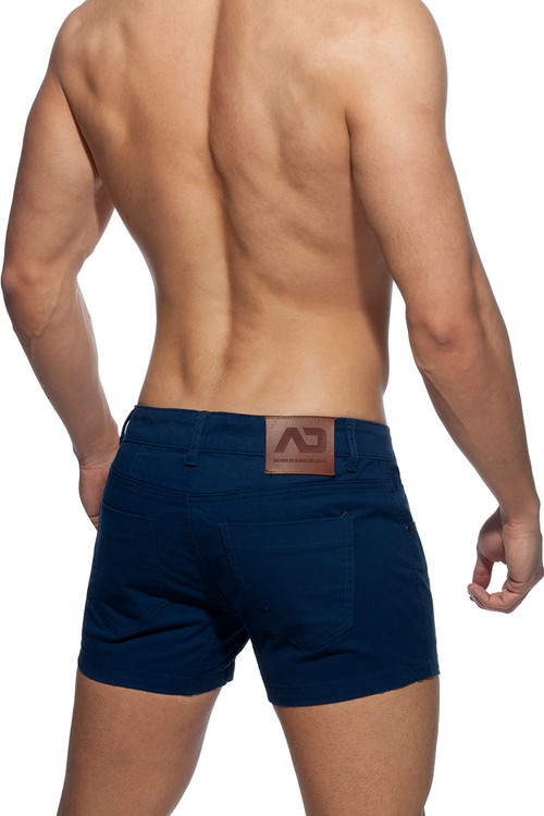 Addicted AD Bermuda Short AD818-09 Navy Blue - Mens Shorts - Rear View - Topdrawers Clothing for Men