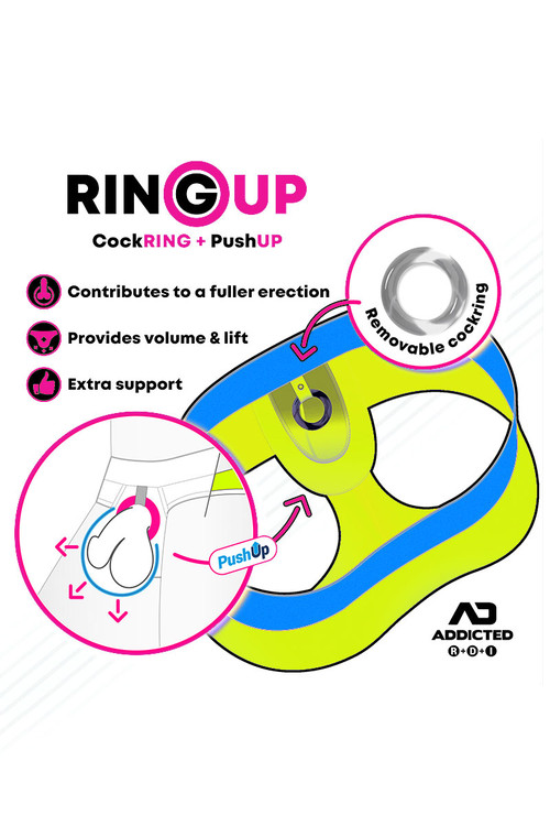 Addicted Cockring C-Through Ring Up - Topdrawers Underwear for Men