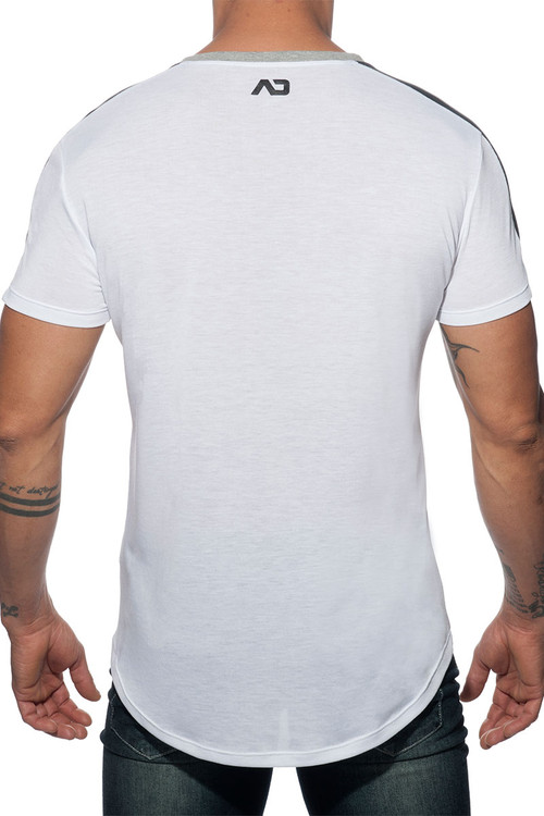 Addicted Raglan Addicted T-Shirt AD778-01 White  - Mens T-Shirts - Rear View - Topdrawers Clothing for Men