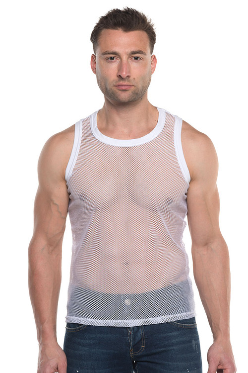 Go Softwear Hard Core Pool Party Mesh Tank Top 4735 - Mens Mesh Tank Tops - Front View - Topdrawers Clothing for Men