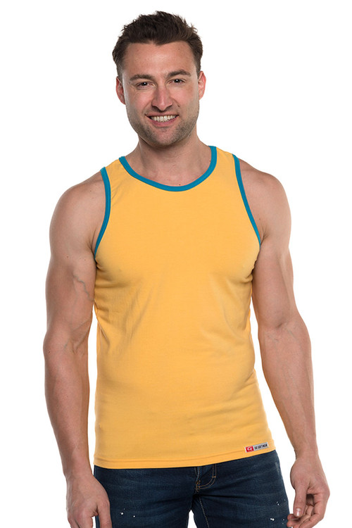 Go Softwear Havana Classic Tank Top 4845-SUN Sunset Gold - Mens Tank Tops - Front View - Topdrawers Clothing for Men