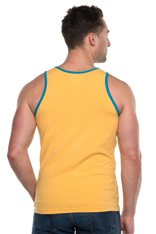 Go Softwear Havana Classic Tank Top 4845-SUN Sunset Gold - Mens Tank Tops - Rear View - Topdrawers Clothing for Men