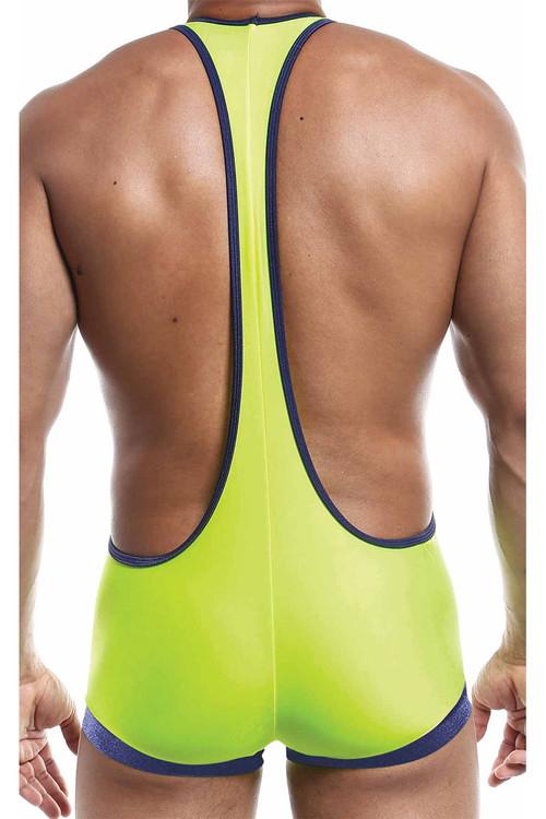 Joe Snyder Bulge Singlet JSBUL10-YL Yellow - Mens Wrestling Singlets - Rear View - Topdrawers Underwear for Men