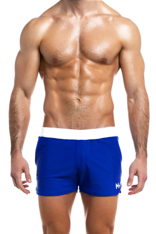 Modus Vivendi Ermis Swim Short DS2031-BU Blue - Mens Swim Shorts - Front View - Topdrawers Swimwear for Men