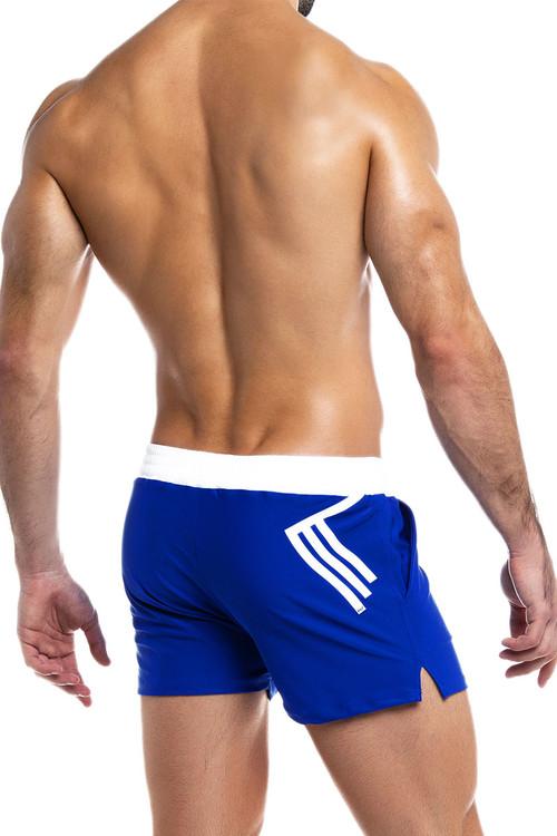 Modus Vivendi Ermis Swim Short DS2031-BU Blue - Mens Swim Shorts - Rear View - Topdrawers Swimwear for Men