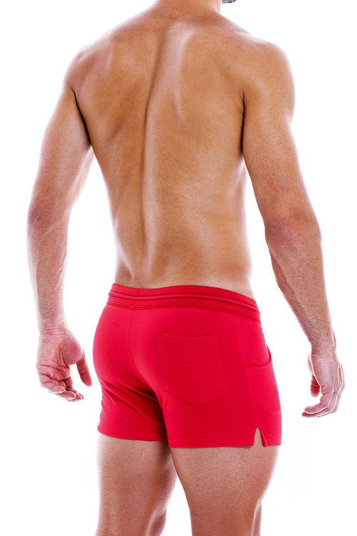Modus Vivendi Peace Shorts 04061-RD Red - Mens Shorts - Rear View - Topdrawers Clothing for Men