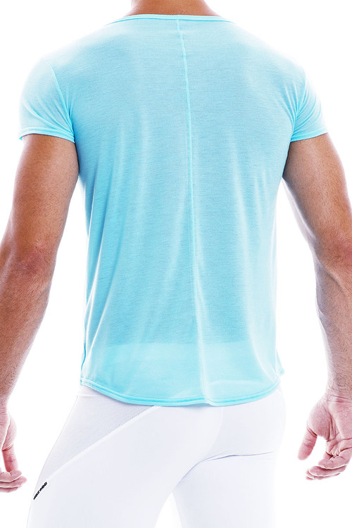 Modus Vivendi Peace T-Shirt 04041-AQ Aqua - Mens T-Shirt Tops - Rear View - Topdrawers Clothing for Men