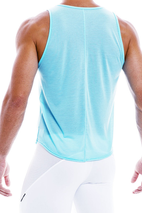 Modus Vivendi Peace Tanktop 04031-AQ Aqua - Mens Tank Tops - Rear View - Topdrawers Clothing for Men
