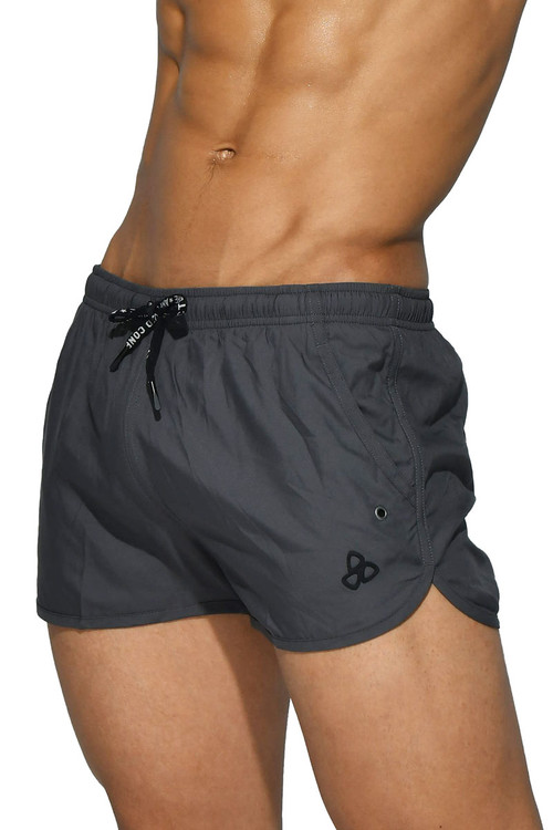 Private Structure BeFit Sweat Athletic Shorts BSBY4059-GR Grey - Mens Athletic Shorts - Side View - Topdrawers Clothing for Men