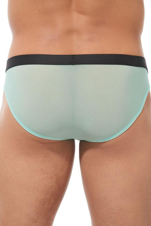 Gregg Homme Torridz Brief 87423-MI Mint Green - Mens Briefs - Rear View - Topdrawers Underwear for Men