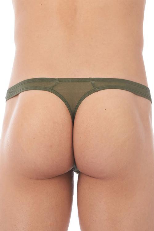 Gregg Homme Torridz Thong 87404-KH Khaki - Mens Thongs - Rear View - Topdrawers Underwear for Men