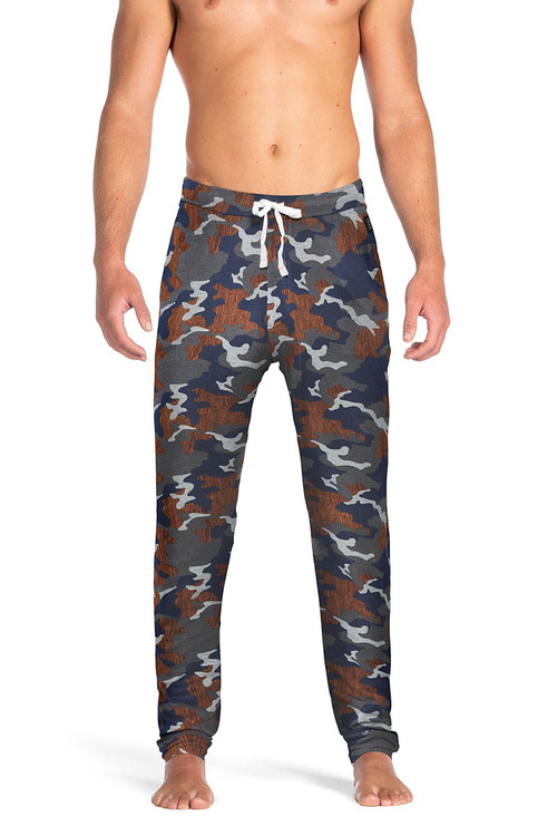 Saxx Snooze Pant | Navy Wood Grain Camo SXLP33-NWG - Mens Sleepwear - Front View - Topdrawers Clothing for Men