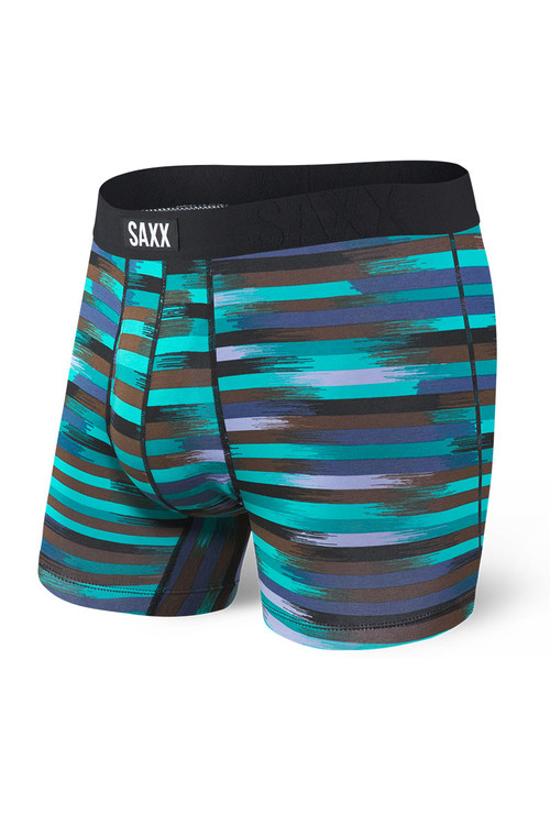 Saxx Undercover Boxer Brief w/ Fly | Black Reflective Stripe SXBB19F-RSB - Mens Boxer Briefs - Front View - Topdrawers Underwear for Men