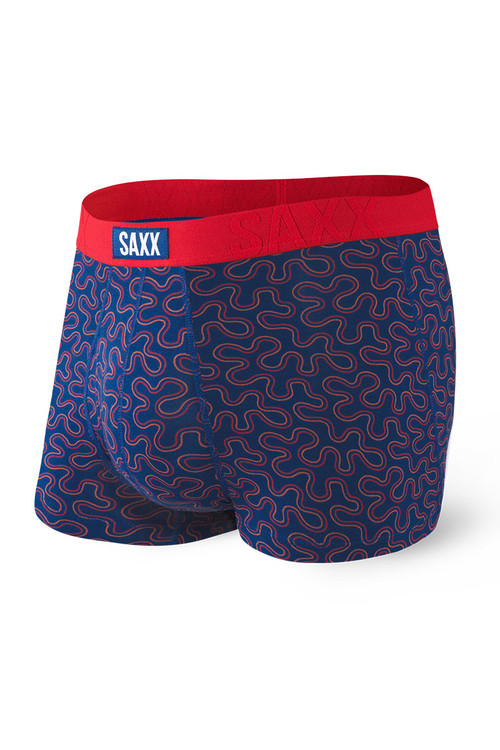 Saxx Undercover Trunk w/ Fly   Navy Coral Camo SXTR19F-CCN - Mens Trunk Boxers - Front View - Topdrawers Underwear for Men