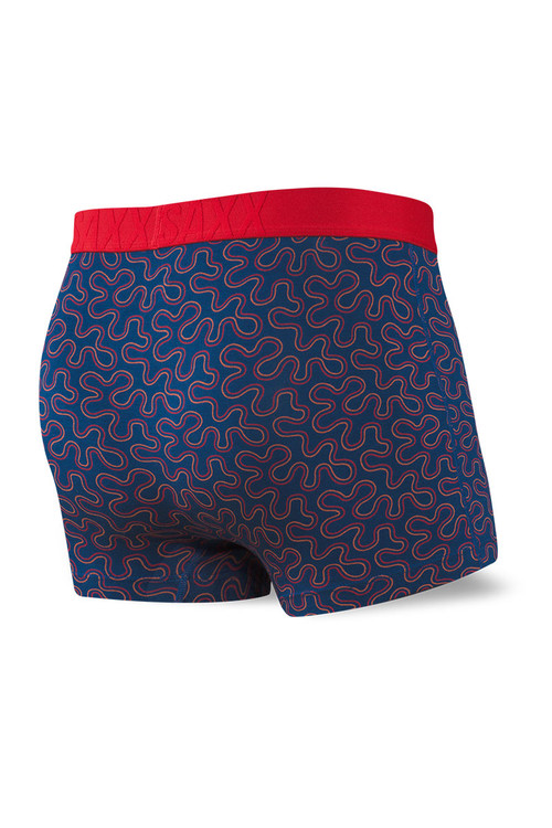 Saxx Undercover Trunk w/ Fly   Navy Coral Camo SXTR19F-CCN - Mens Trunk Boxers - Rear View - Topdrawers Underwear for Men