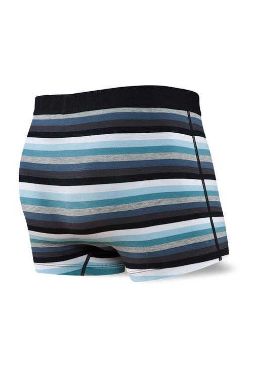 Saxx Vibe Trunk | Grey Pop Stripe SXTM35-POG - Mens Trunk Boxers - Rear View - Topdrawers Underwear for Men