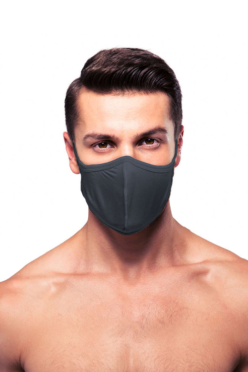 Obviously Face Mask MEA02-DKRG Dark Grey  - Unisex Protective Face Masks - Front View - Topdrawers Personal Protective Gear for Men