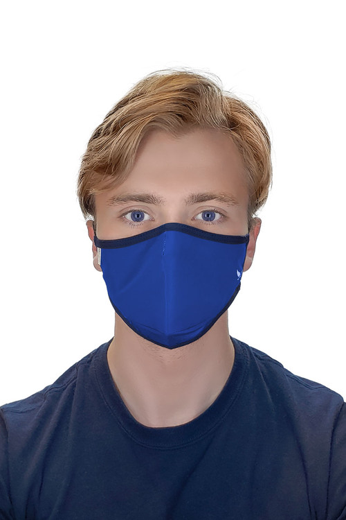 MaleBasics Defender Basic Face Mask 2.0 MASK03-ROY Royal Blue  - Unisex Protective Face Masks - Front View - Topdrawers Personal Protective Gear for Men