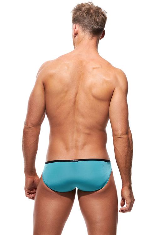 Gregg Homme Voyeur Briefs 100603-TL Teal - Mens Briefs - Rear View - Topdrawers Underwear for Men