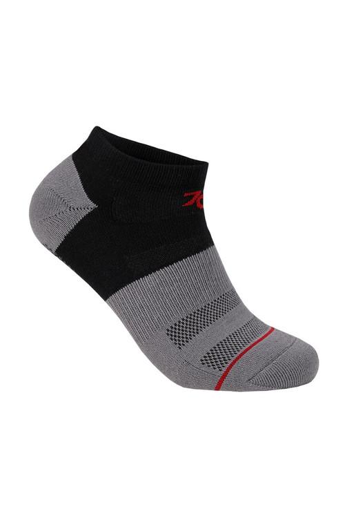 2UNDR 70 Performance Ankle Sock Black Grey 2U40AS-BGR - Mens Athletic Socks - Front View - Topdrawers Underwear for Men