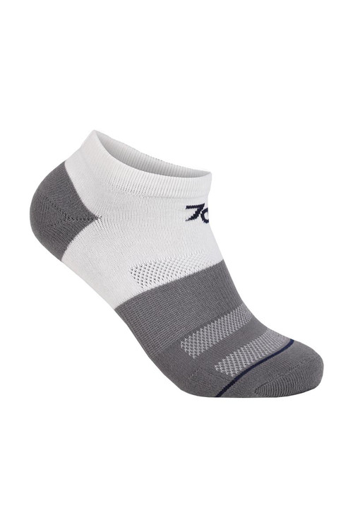 2UNDR 70 Performance Ankle Sock White Grey 2U40AS-WGR - Mens Athletic Socks - Front View - Topdrawers Underwear for Men