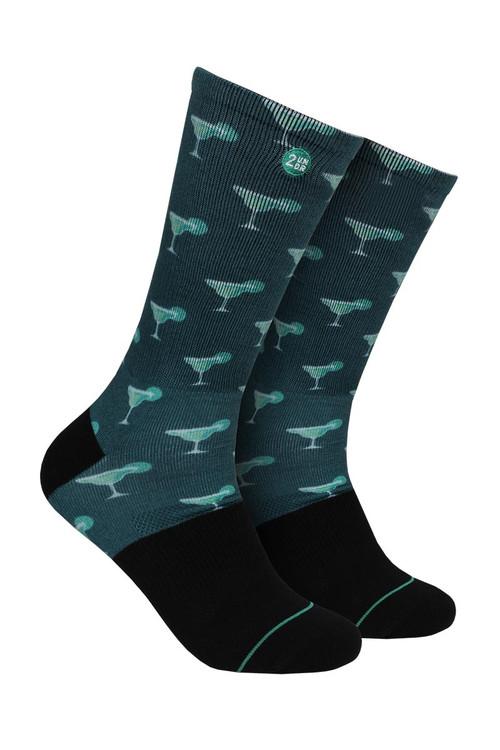 2UNDR Groove Crew Sock Margaritas 2U07CS-167 - Mens Socks - Front View - Topdrawers Underwear for Men