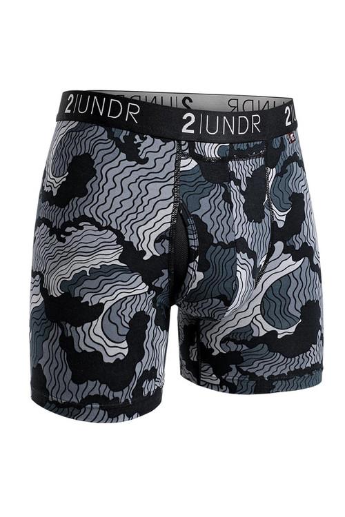2UNDR Swing Shift Boxer Brief Tsunami 2U01BB-128 - Mens Boxer Briefs - Front View - Topdrawers Underwear for Men