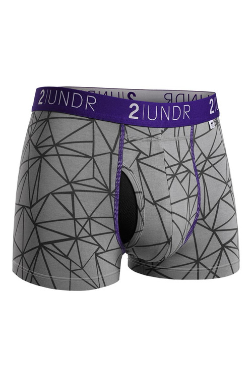 2UNDR Swing Shift Trunk Star Track 2U01TR-130 - Mens Trunk Boxer Briefs - Front View - Topdrawers Underwear for Men
