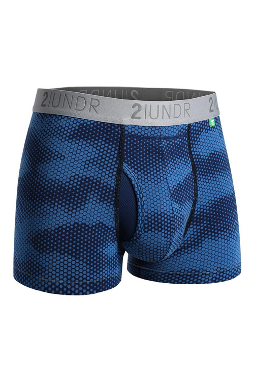 2UNDR Swing Shift Trunk Camava 2U01TR-133 - Mens Trunk Boxer Briefs - Front View - Topdrawers Underwear for Men