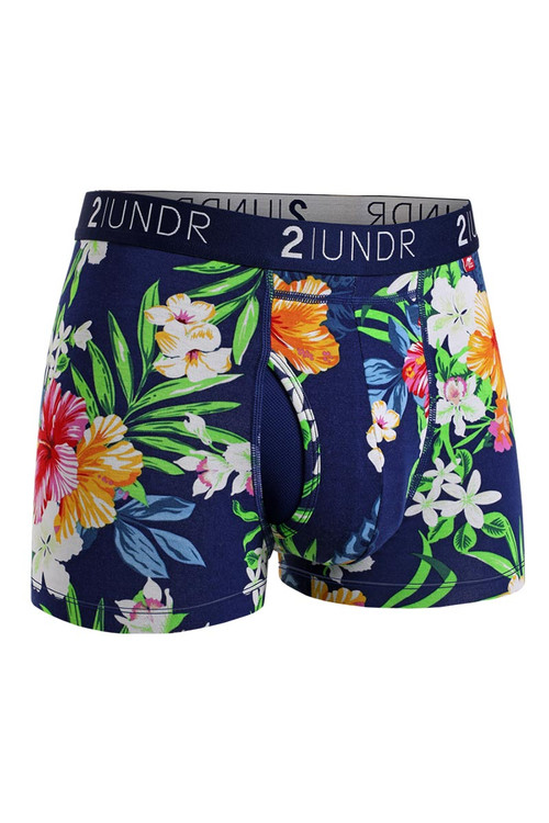 2UNDR Swing Shift Trunk Tahiti 2U01TR-125 - Mens Trunk Boxer Briefs - Front View - Topdrawers Underwear for Men