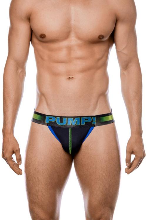 PUMP! PLAY Green Jockstrap 15052 - Mens Jockstraps - Front View - Topdrawers Underwear for Men