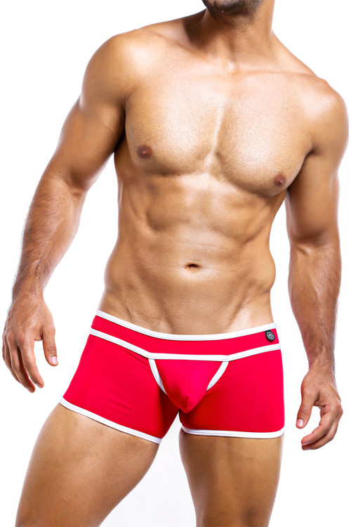 Intymen Boxer Trunk ING052-RD Red  - Mens Boxer Briefs - Front View - Topdrawers Underwear for Men
