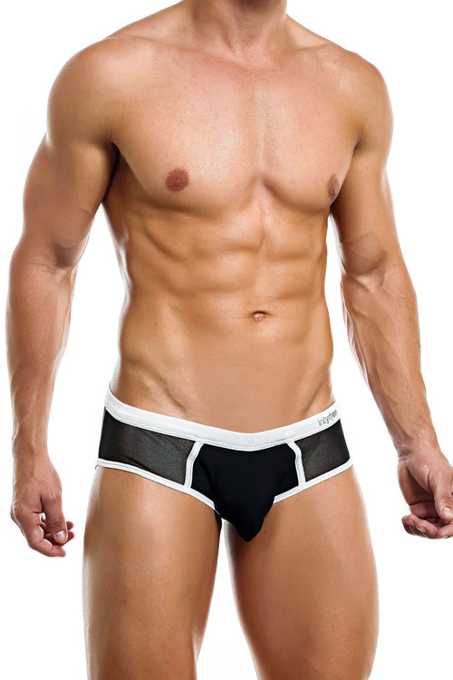 Intymen Man Brief INJ058-BL Black  - Mens Briefs - Side View - Topdrawers Underwear for Men