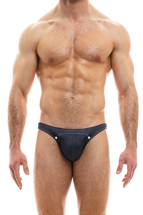 Modus Vivendi Jeans Low Cut Brief 05012-CH Charcoal Grey - Mens Briefs - Front View - Topdrawers Underwear for Men