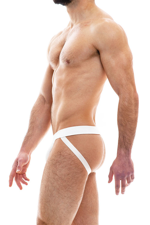 Modus Vivendi Smooth Knit Jockstrap 09011-OFFW Off White - Mens Jockstraps - Rear View - Topdrawers Underwear for Men