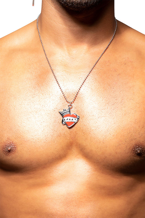 Andrew Christian Daddy Love Necklace 8507 - Mens Necklaces - Front View - Topdrawers Apparel for Men