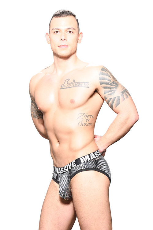 Andrew Christian MASSIVE Glitz Brief 91717 - Mens Briefs - Side View - Topdrawers Underwear for Men
