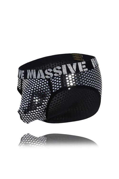 Andrew Christian MASSIVE Glitz Brief 91717 - Mens Briefs - Garment View - Topdrawers Underwear for Men