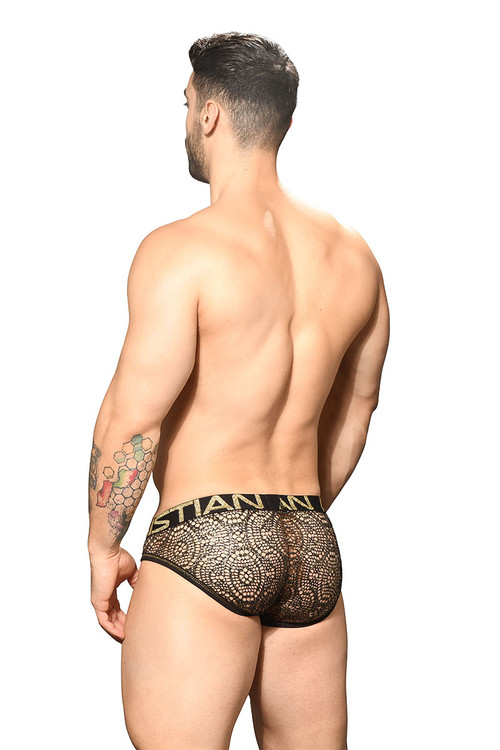 Andrew Christian El Dorado Mesh Brief w/ Almost Naked 91753 - Mens Briefs - Rear View - Topdrawers Underwear for Men
