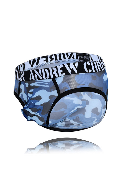 Andrew Christian Troop Sheer Brief w/ Almost Naked 91686 - Mens Briefs - Garment View - Topdrawers Underwear for Men