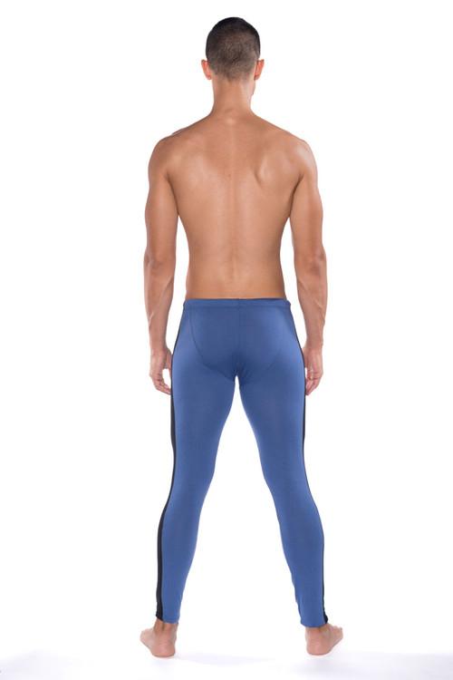 Go Softwear B2E Tights 3373-DE Denim - Mens Long Underwear - Rear View - Topdrawers Underwear for Men