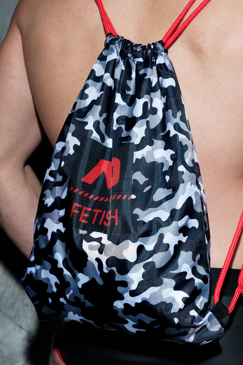 Addicted Fetish Camo Reversible Backpack ADF90 - Mens Bags - Close Up View - Topdrawers Apparel for Men