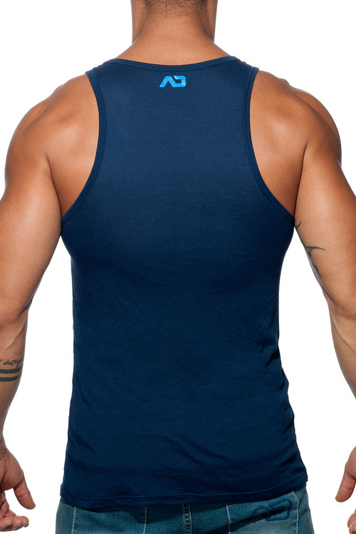 Addicted Woof Tank Top AD603-09 Navy Blue - Mens Tank Tops - Rear View - Topdrawers Clothing for Men